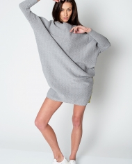 Knit Cotton Grey Dress2