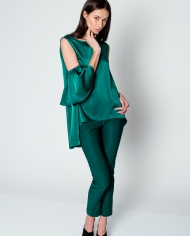 The Muse green silk blouse 2