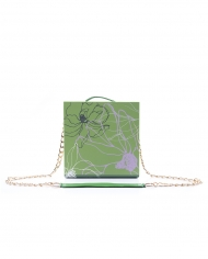 Wooden book-clutch. Pantone color- Greenery 5