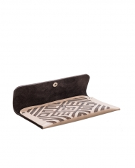 Leather wallet with Armenian ornament1b