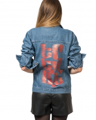 Denim jacket with Logo 3