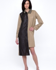 Zgest contrast shirt dress 2