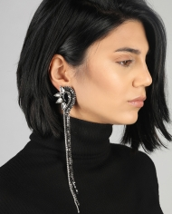 Faina Mono Earring Black 2