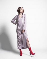 PLATON FF silk dress lookbook