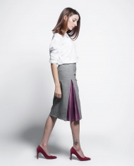 PLATON FF skirt with pleats lookbook