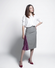 PLATON FF skirt with pleats lookbook2