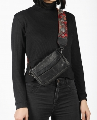 Nazan shoulder bag with studs on model