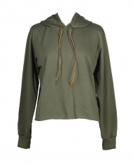 Petoor Khaki Hoodie Orange Ribbons