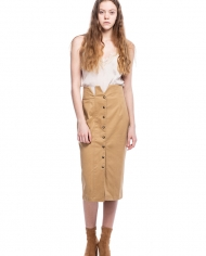 ZGEST camel skirt lookbook