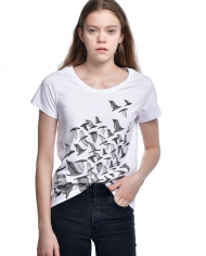 Lilit Sarkisian Birds White T-shirt 2