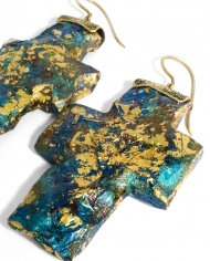 Soors Jewellery Blue Gold Cross 2
