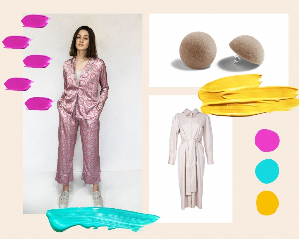 Pastel colored outfit