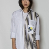 Striped Panelled shirt for women