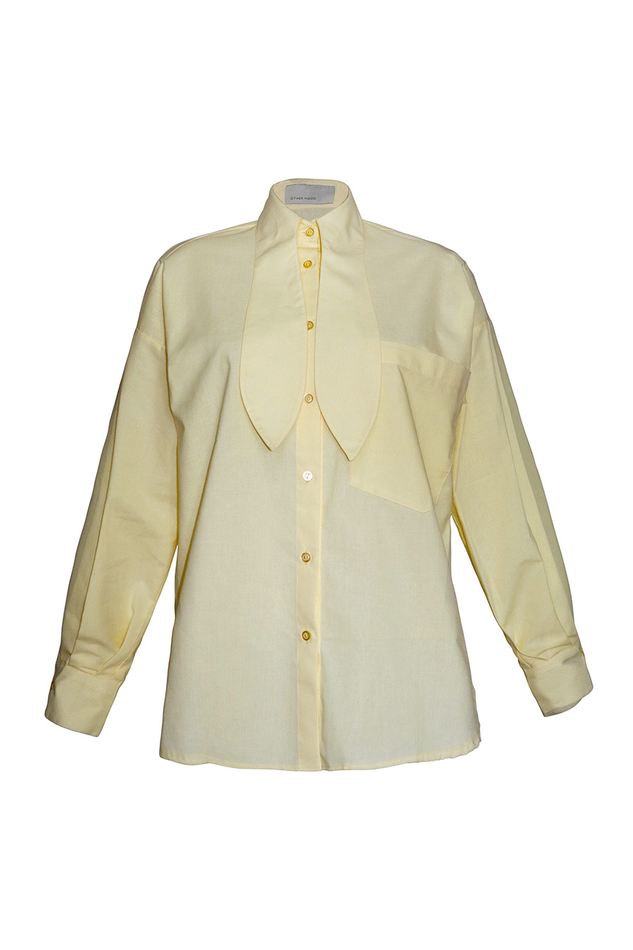 OM Shirt With Bow Tie Collar - Yellow